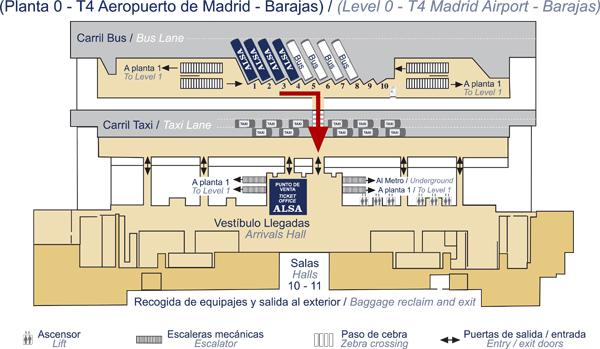 Alsa en las llegadas de la t4 del aeropuerto de madrid barajas - Oficinas santander pamplona ...