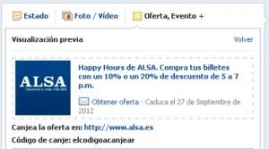 ALSA Oferta Alsa en Facebook