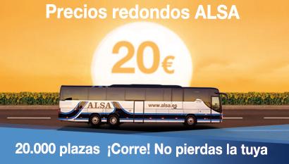 precios redondos ALSA descuentos