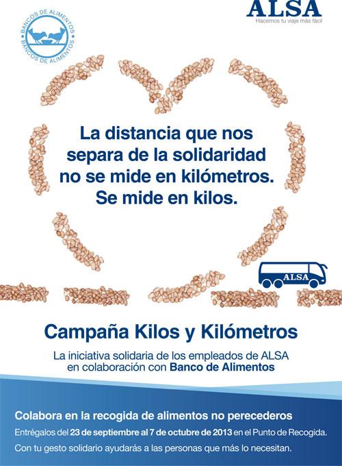 kilos y kilometros ALSA