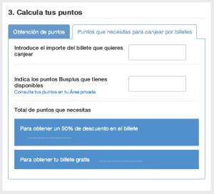 ALSA calcula puntos nueva web