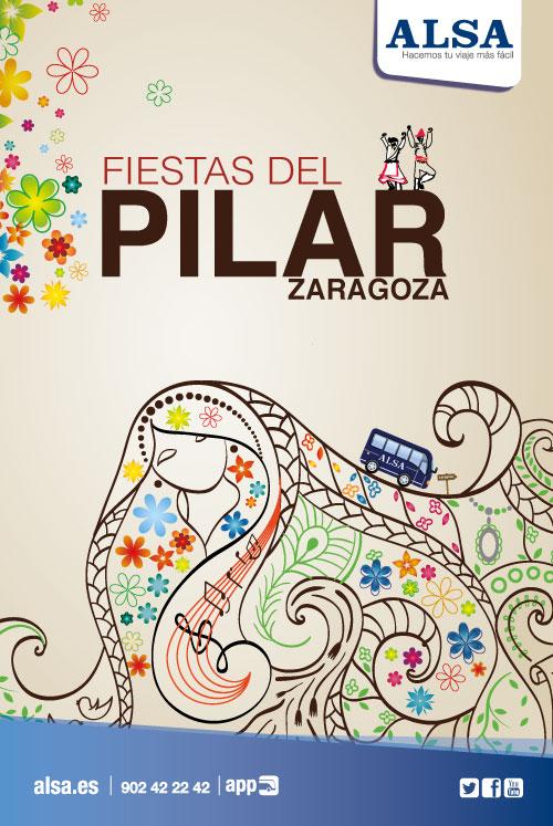 ALSA Fiestas de la Virgen del Pilar en Zaragoza