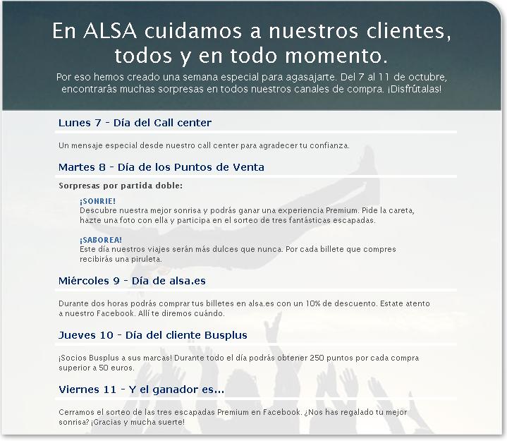 semana cliente ALSA