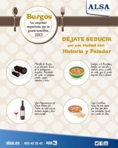 ALSA Burgos, capital de la gastronomía 2013