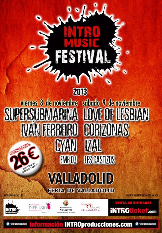 ALSA Cartel Intro Music Festival Valladolid