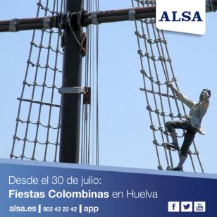 ALSA huelva fiestas colombinas