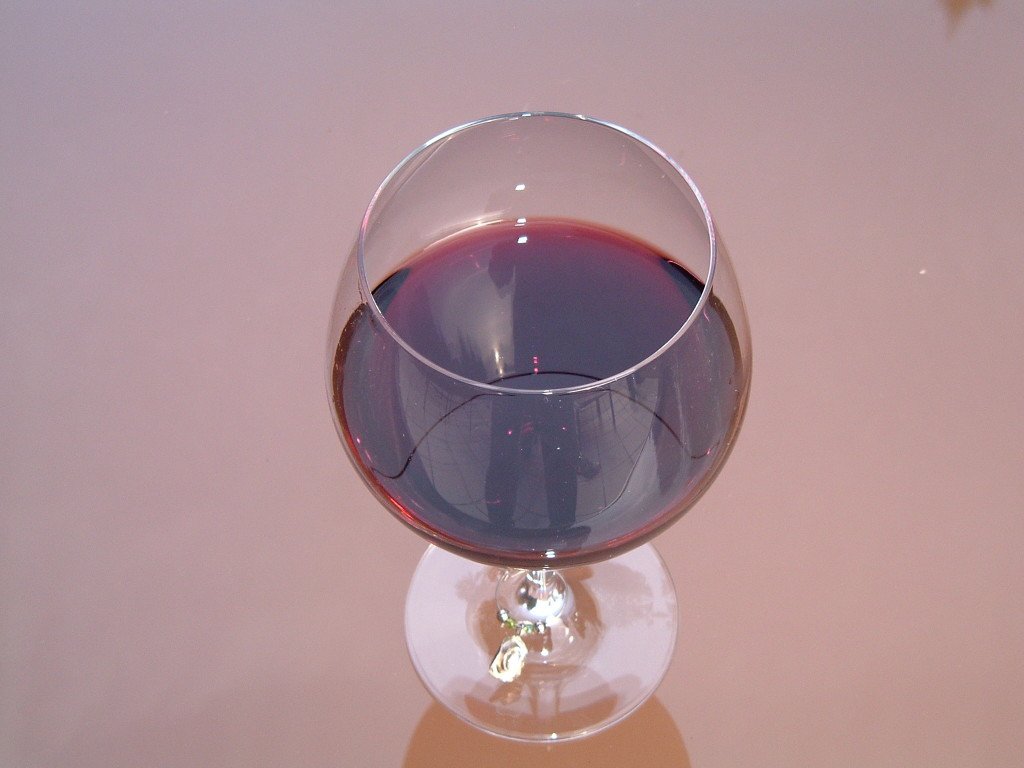 Glen Edelson Glass of red wine