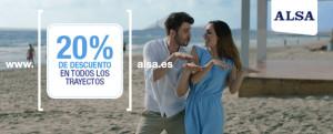 ALSA Banner 20% de descuento
