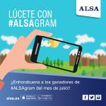 ¡Enhorabuena a los ganadores de #ALSAgram de julio!
