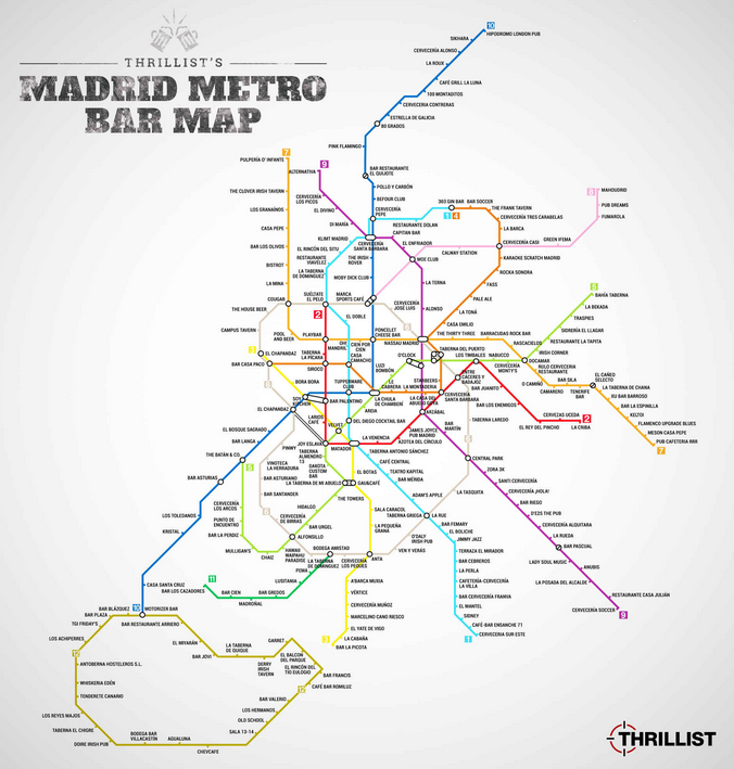 Mapa de bares de Madrid
