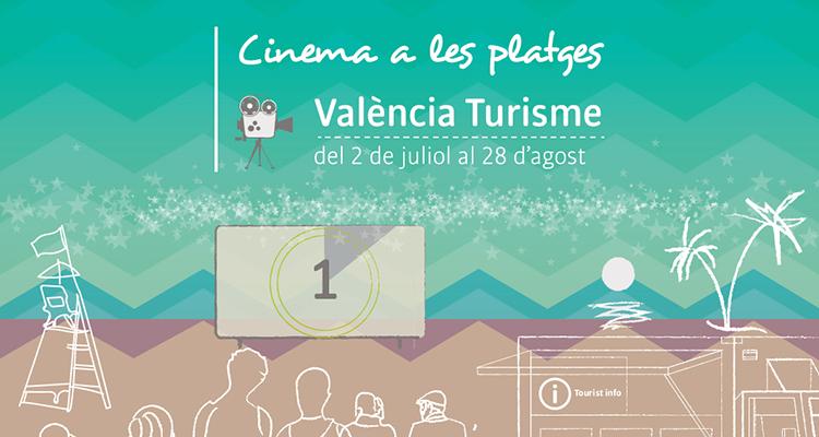 Cartell cinema a les platges valencia