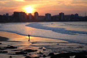 Gijón semana grande playa