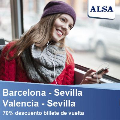 barcelon sevilla valencia ALSA