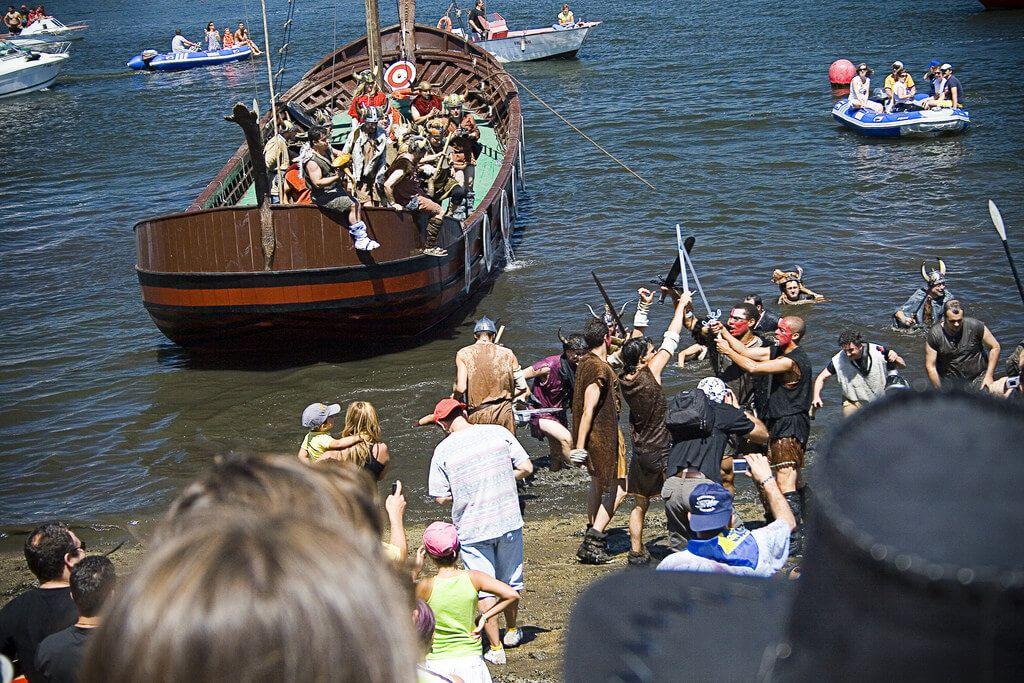 Romeria Vikinga Catoira Pontevedra