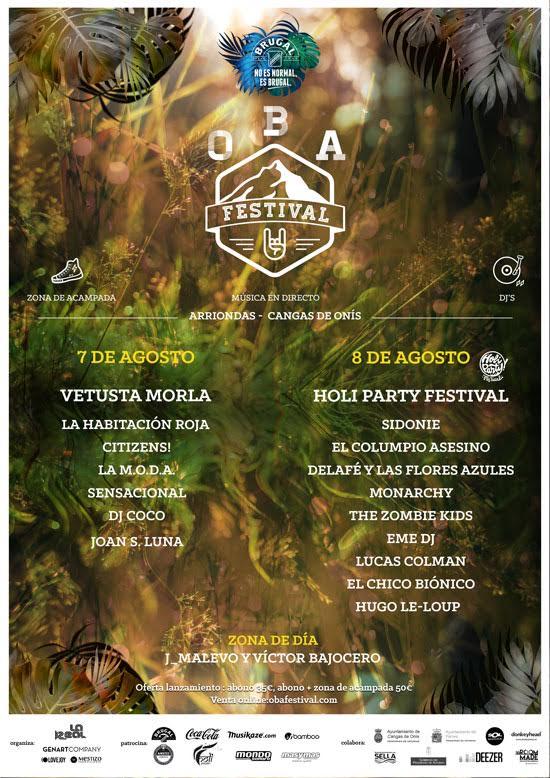cartel por dias oba festival