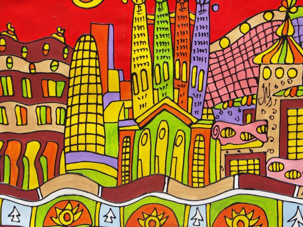 dibujo barcelona