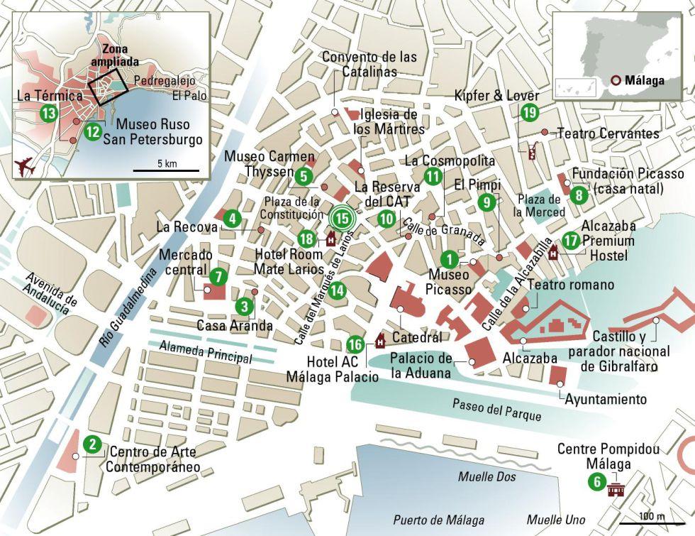 Mapa De Malaga Capital Por Barrios.Malaga En 24 Horas Que Ver Donde Ir Blog De Alsa