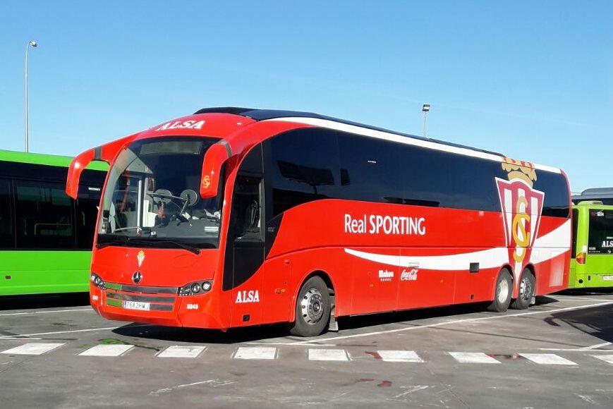 autobus equipo Real Sporting ALSA