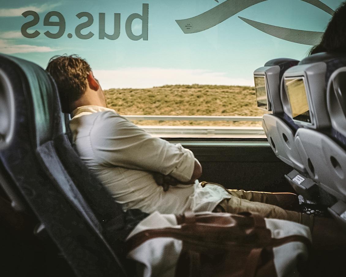 dormir en el autobus ALSA
