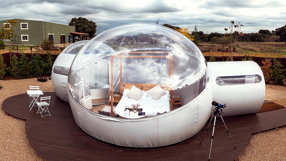 hotel con habitaciones burbuja en toledo