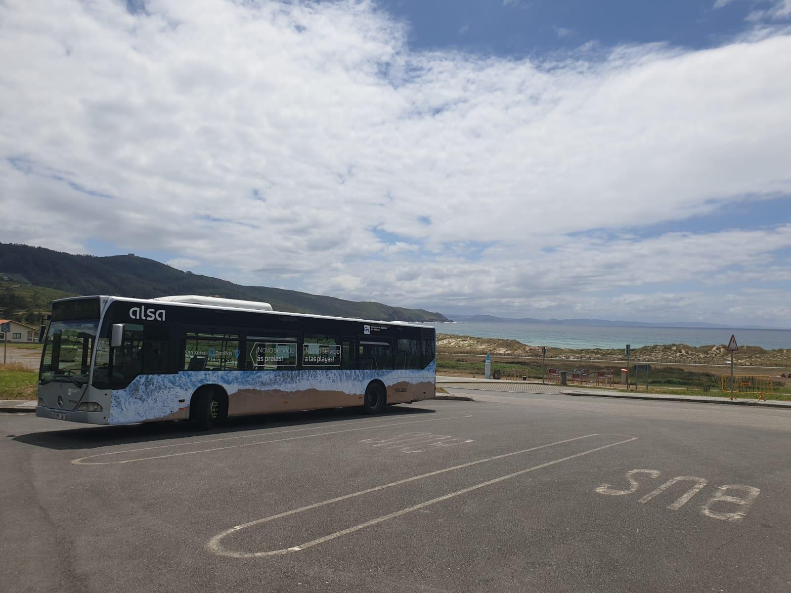 bus playas ferrol galicia servicio especial urbano alsa