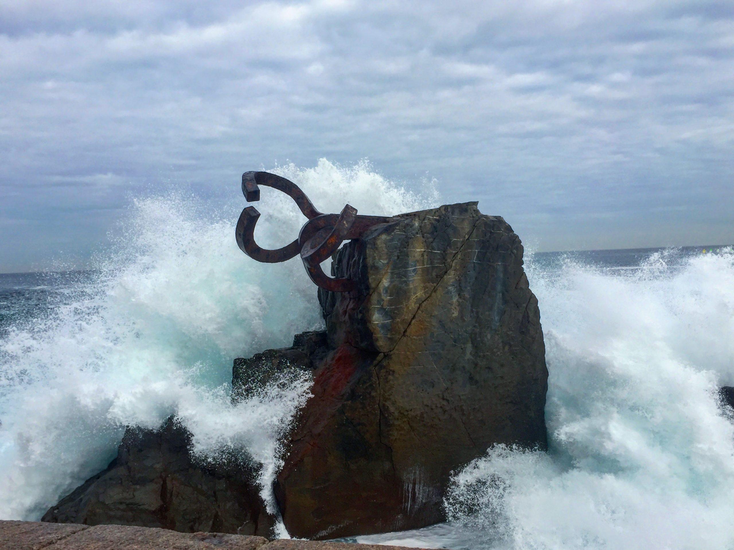 peine del viento alsa san sebastián donostia mar escultura